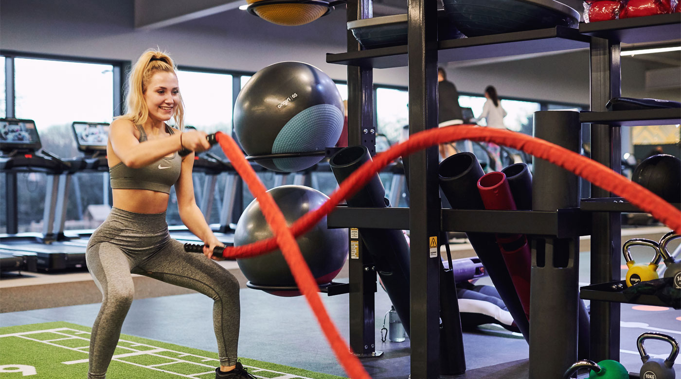 Image of woman using Battleropes at David Lloyd