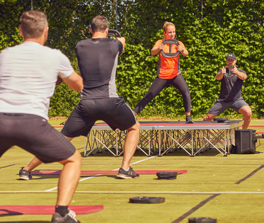 Image of outdoor Bodypump class at David Lloyd